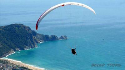 Tandem paraglider flight from Serik