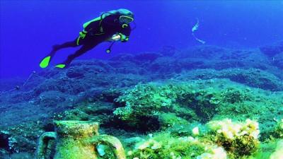 Diving (underwater swimming) from Serik